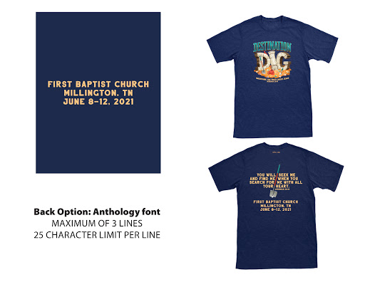 Anthology Font (Back Option) - 2021 VBS Custom T-Shirt